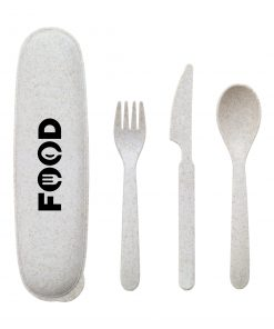 Eco Gusto Wheat Straw Cutlery Set From Inferno